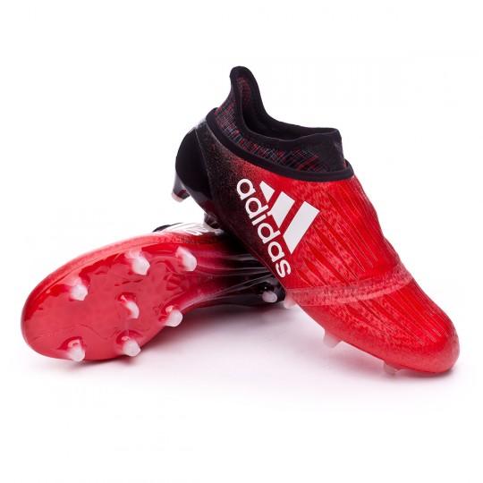 Bota  adidas X 16+ Purechaos FG Red-White-Core black