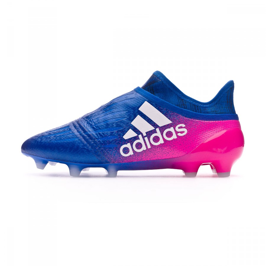 cheap for discount e7257 fbb74 ... Bota X 16+ Purechaos FG Blue-White-Shock pink. CATEGORY. Football boots  · adidas football boots