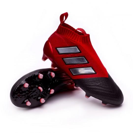 Bota  adidas jr Ace 17+ Purecontrol FG Red-White-Core black