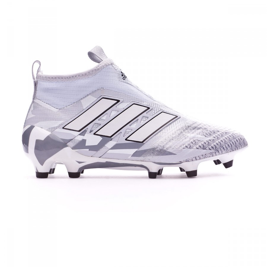 5167a14cfdb Football Boots adidas Jr Ace 17+ Purecontrol FG Clear grey-White-Core black  - Football store Fútbol Emotion
