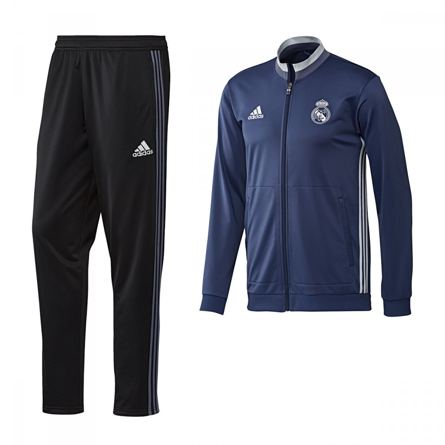e8e6b6d66a1a0 Chándal adidas Real Madrid Pre-Match 2016-2017 Blue blast-White - Tienda de  fútbol Fútbol Emotion