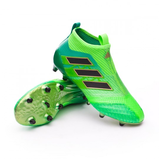 Chuteira  adidas jr Ace 17+ Purecontrol FG Solar green-Core black-Core green