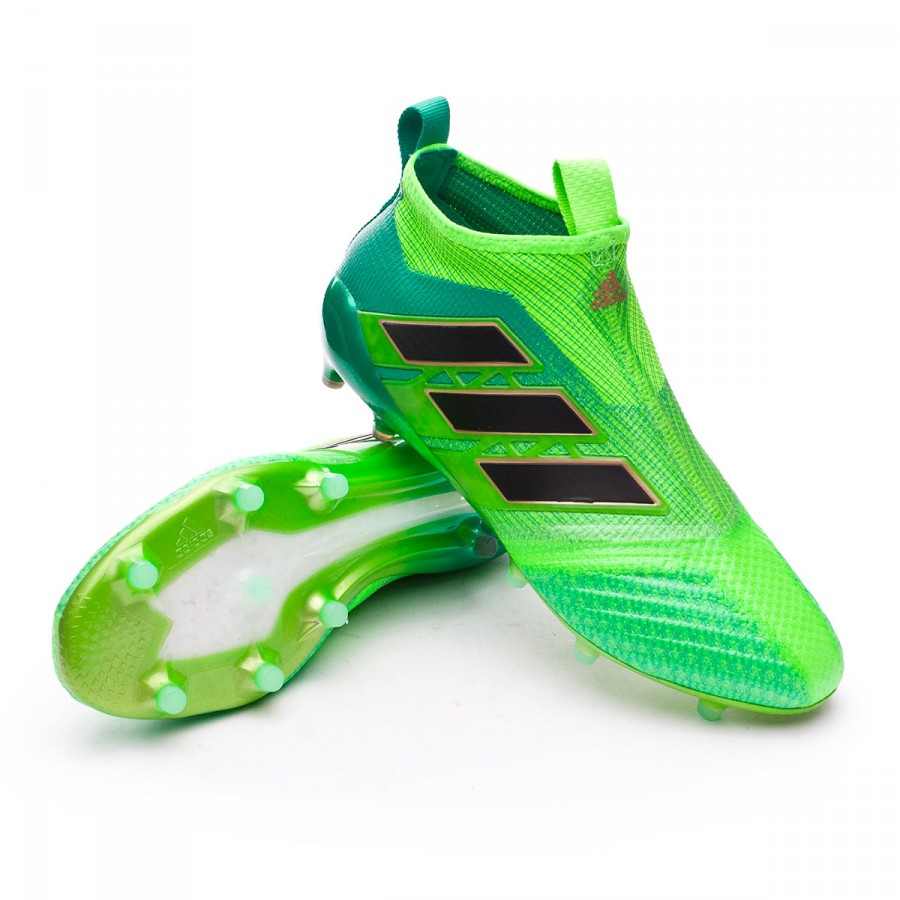 e9f29acd9f6a adidas Ace 17+ Purecontrol FG Football Boots. Solar green-Core black-Core  ...
