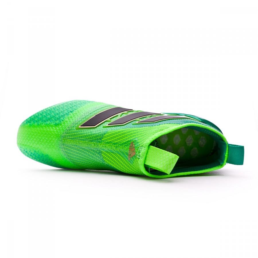 ca6d3221c20d1 Chuteira adidas Ace 17+ Purecontrol FG Solar green-Core black-Core green -  Loja de futebol Fútbol Emotion