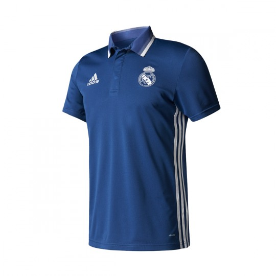 Polo  adidas Real Madrid CL 2016-2017 Blue blast-White