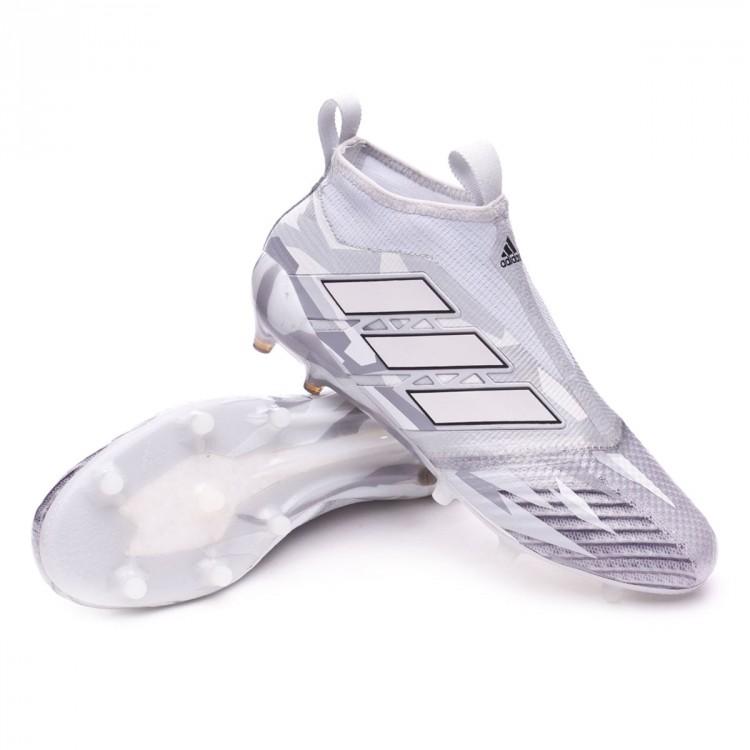 3963de9965322 Bota de fútbol adidas Ace 17+ Purecontrol FG Clear grey-White-Core ...