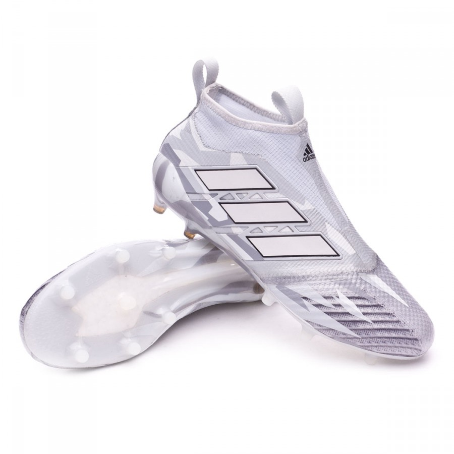 online store 824f6 b5264 ... Bota Ace 17+ Purecontrol FG Clear grey-White-Core black. CATEGORY.  Football boots · adidas football boots