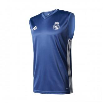 Camiseta  adidas Sin mangas Real Madrid 2016-2017 Blue blast-White