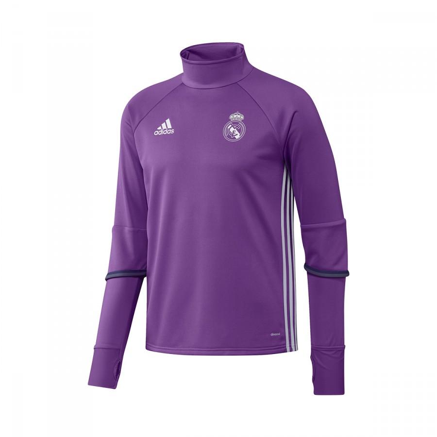 8feb99bec22 adidas Real Madrid Training Top 2016-2017 Sweatshirt. Ray purple-Crystal  white ...