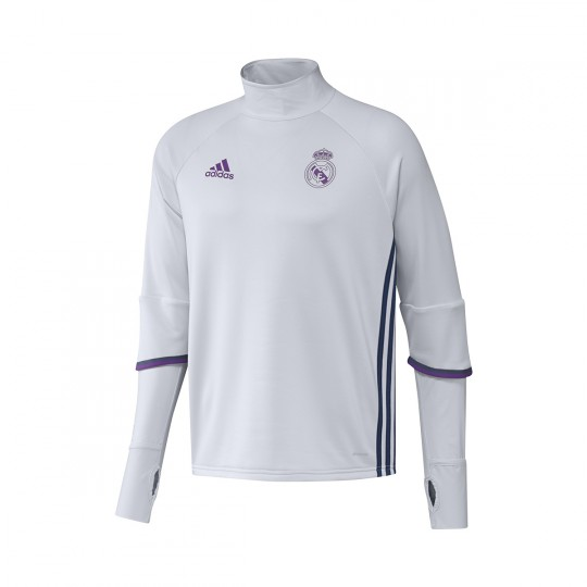 Sudadera  adidas Real Madrid Training Top 2016-2017 Crystal white-Raw purple
