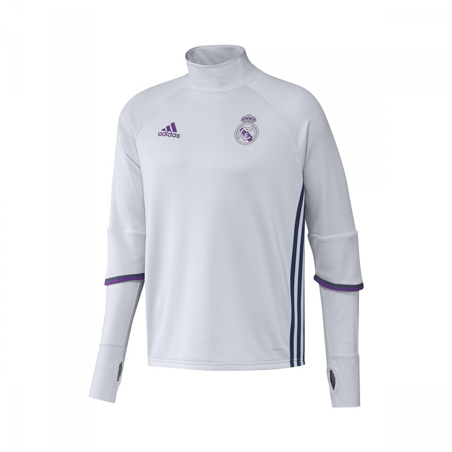 e0895a64d0d Sweatshirt adidas Real Madrid Training Top 2016-2017 Crystal white ...