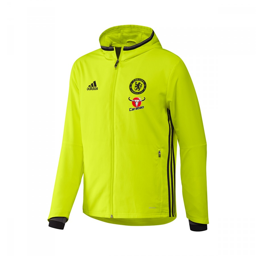 301fcde5f85 Casaco adidas Chelsea FC Pre-Match 2016-2017 Solar yellow-Black-Granite -  Loja de futebol Fútbol Emotion