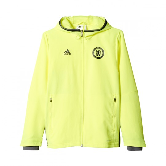 Chaqueta  adidas jr Chelsea FC Pre-Match 2016-2017 Solar yellow-Black-Granite