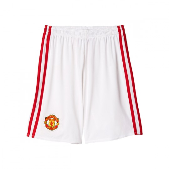 Pantalón corto  adidas Manchester United Home 2016-2017 White-Real red