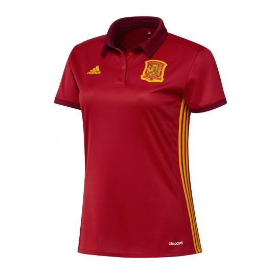 Camiseta  adidas Selección Española Home Euro 2017 Mujer Power red