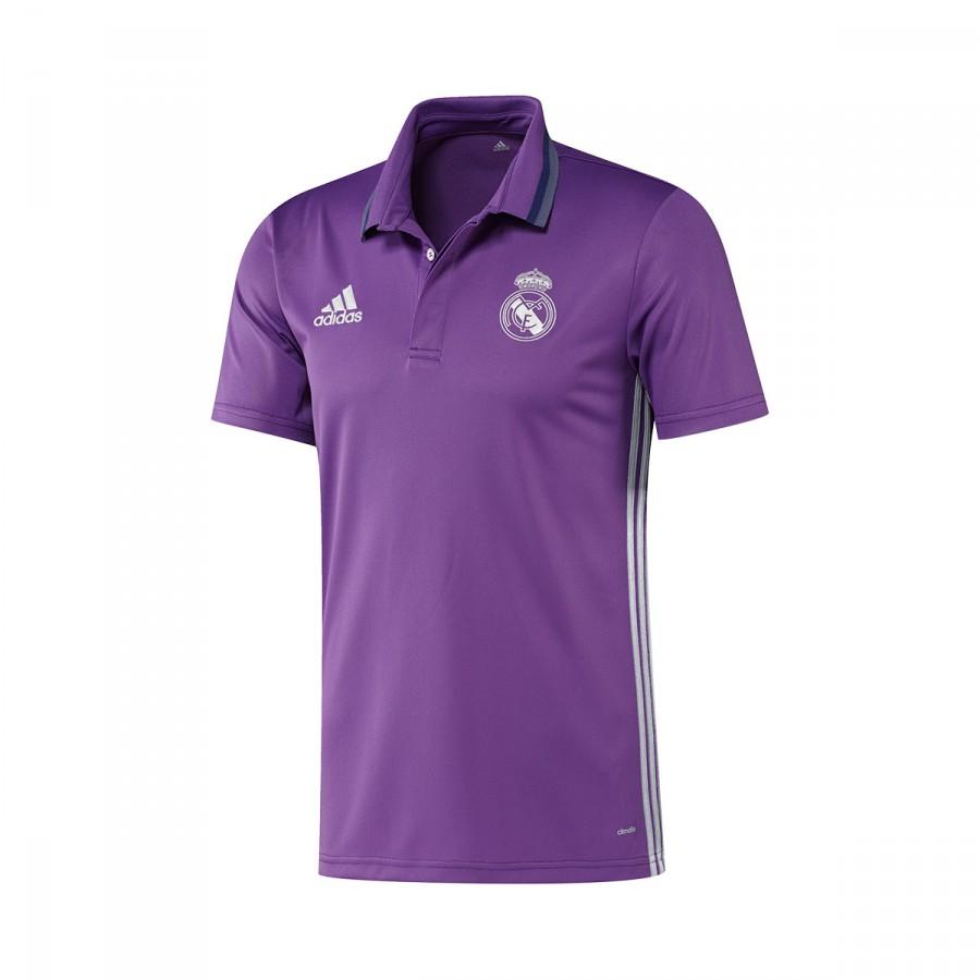 25193b1a328 adidas Real Madrid CL 2016-2017 Polo shirt. Ray purple-Crystal white ...