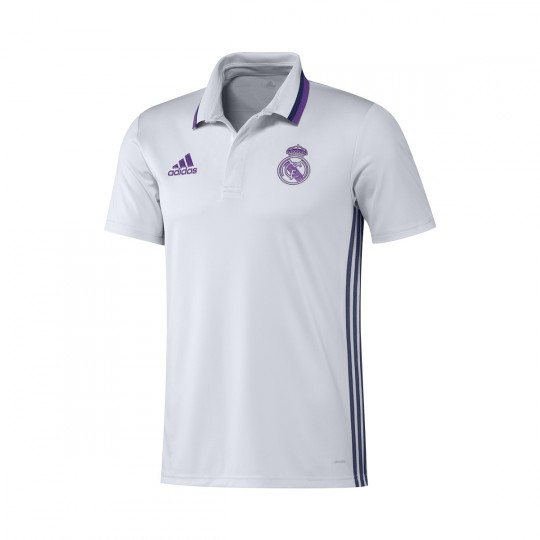 Polo  adidas Real Madrid CL 2016-2017 Crystal white-Blue blast