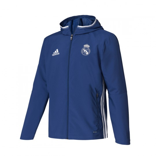 Chaqueta  adidas jr Real Madrid 2016-2017 Blue blast-White