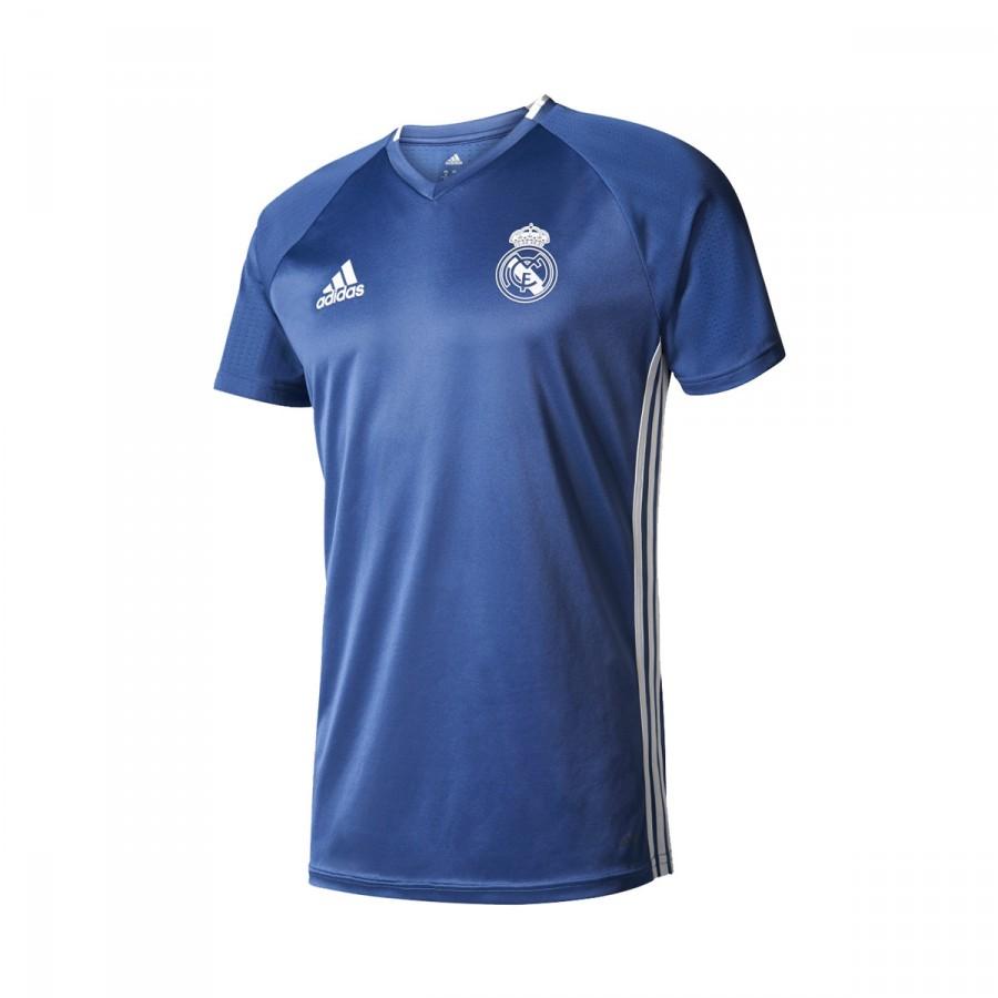 Jersey adidas Jr Real Madrid Training 2016-2017 Blue-White ... b3d56d7f5e9aa
