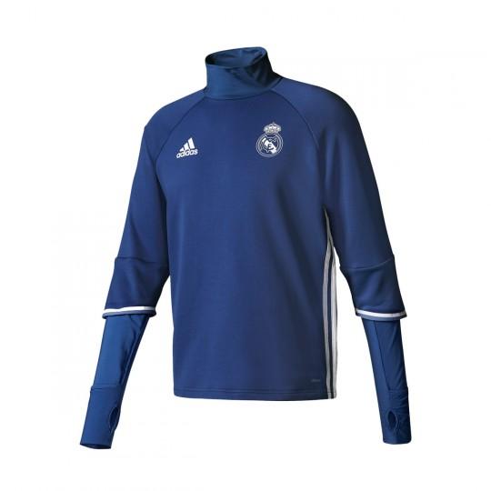 Sudadera  adidas jr Real Madrid Training Top 2016-2017 Blue blast-White