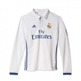 Camiseta  adidas Real Madrid Primera Equipación 2016-2017 Niño Crystal white-Raw purple
