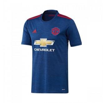 Camiseta  adidas Manchester United Segunda Equipación 2016-2017 Niño Collegiate royal-Real red