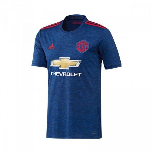 Camiseta  adidas jr Manchester United Away 2016-2017 Collegiate royal-Real red