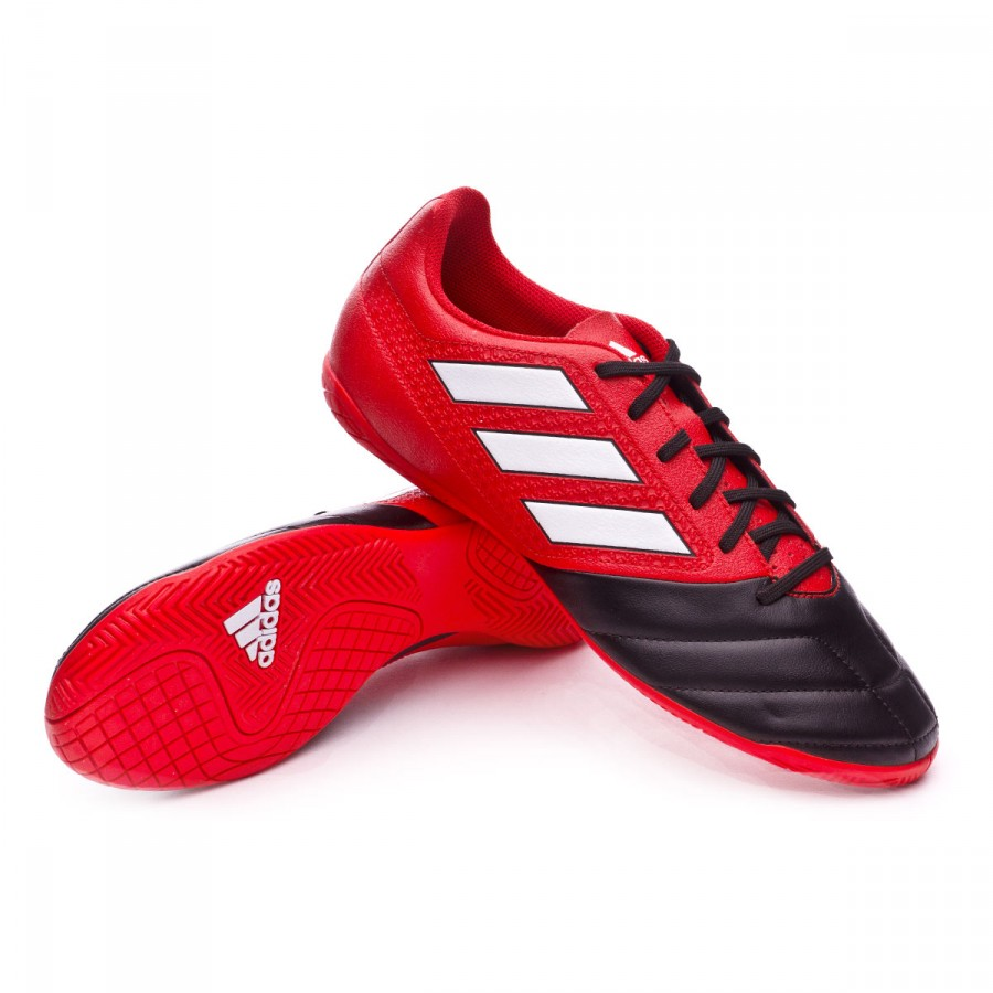 Futsal Boot adidas Ace 17.4 IN Red-White-Core black - Football store ... e94aeeaf8