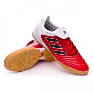 Sapatilha de Futsal  adidas Copa 17.3 IN Red-Core black-White