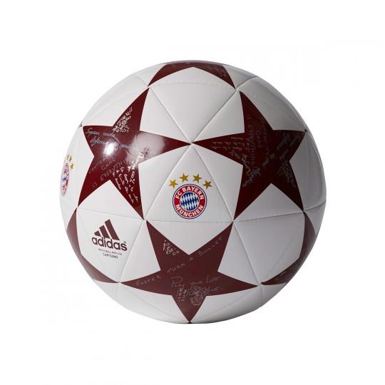 Bola de Futebol  adidas Finale 16 Capitano FC Bayern White-Onix-Light onix