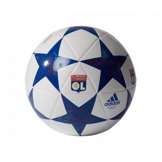 Balón  adidas Finale 16 Capitano Olympique Lyon White-Collegiate royal-Red