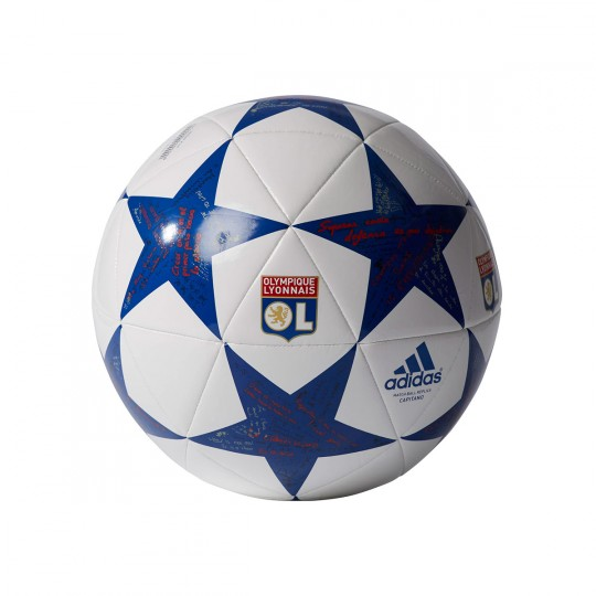 Bola de Futebol  adidas Finale 16 Capitano Olympique Lyon White-Collegiate royal-Red