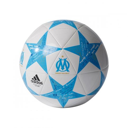 Balón  adidas Finale 16 Capitano Olympique Marsella White-Cyan