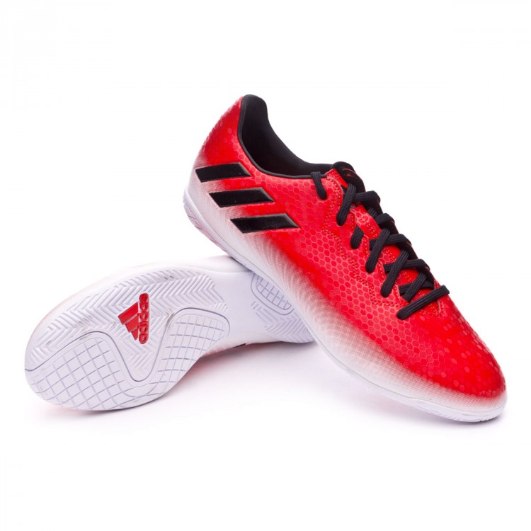 ea1ff237f40ff Tenis adidas Messi 16.4 IN Red-Core black-White - Tienda de fútbol ...
