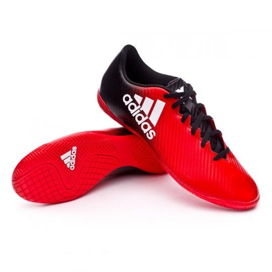 Zapatilla de fútbol sala  adidas X 16.4 IN Red-White-Core black