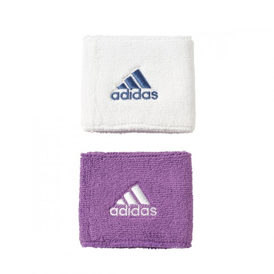 Muñequera  adidas Real Madrid 2016-2017 (2 uds) Crystal white-Raw purple