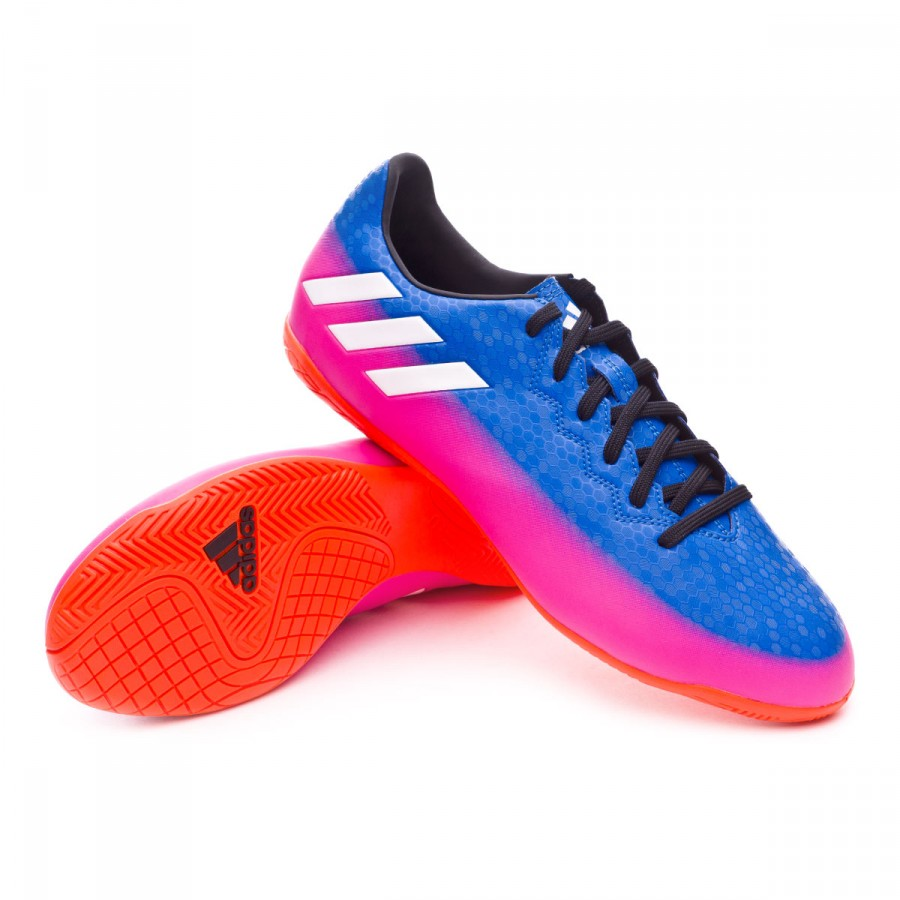 6ac775129695e Tenis adidas Messi 16.4 IN Blue-White-Solar orange - Tienda de fútbol  Fútbol Emotion