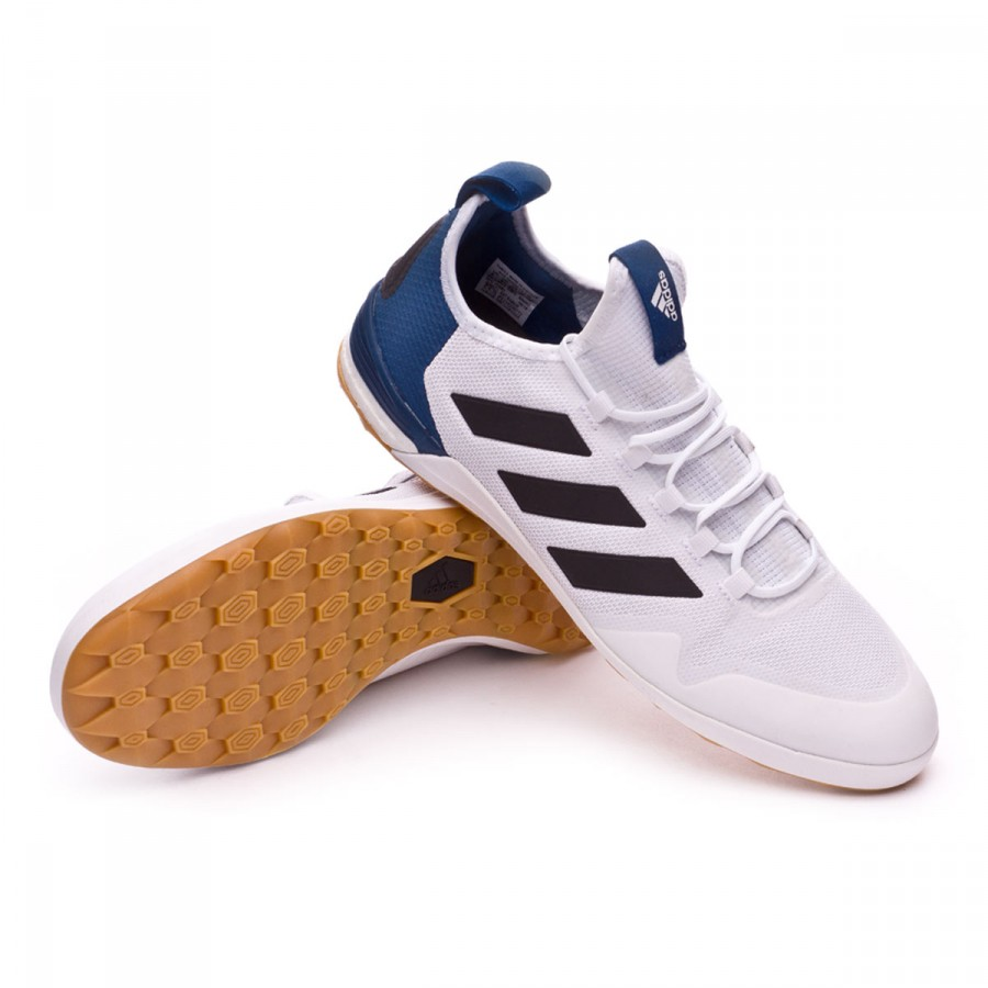 d7fcf2f34 adidas Ace Tango 17.1 IN Futsal Boot. White-Core black-Mystery blue ...