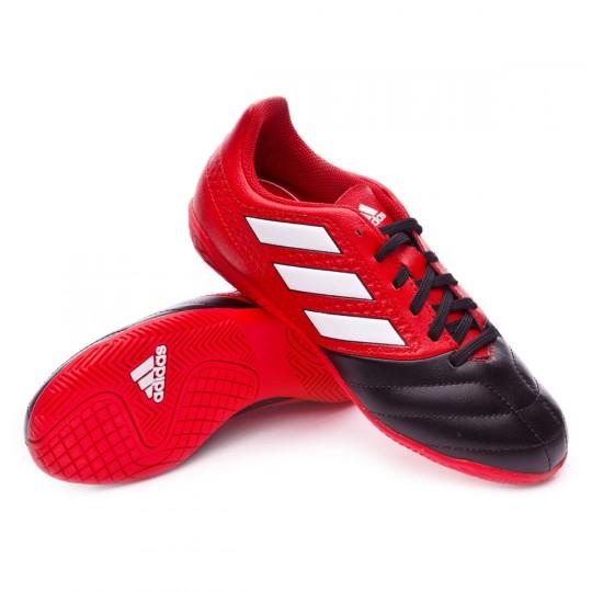 Zapatilla de fútbol sala  adidas jr Ace 17.4 IN Red-White-Core black