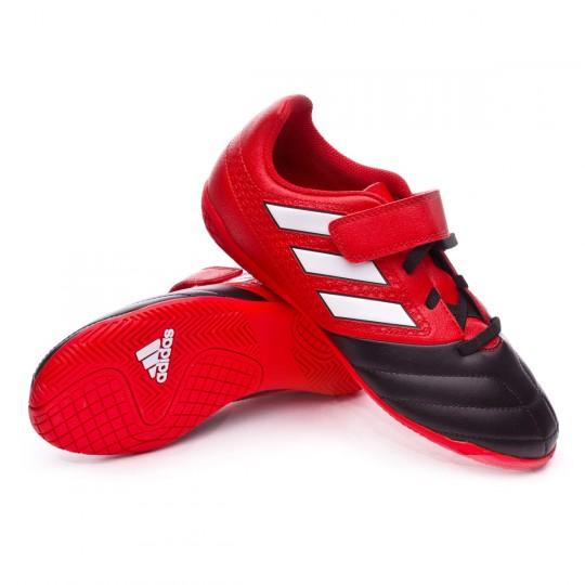 Zapatilla de fútbol sala  adidas jr Ace 17.4 IN H&L Red-White-Core black