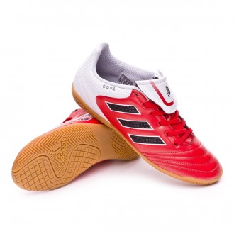 Sapatilha de Futsal  adidas Jr Copa 17.4 IN Red-Core black-White
