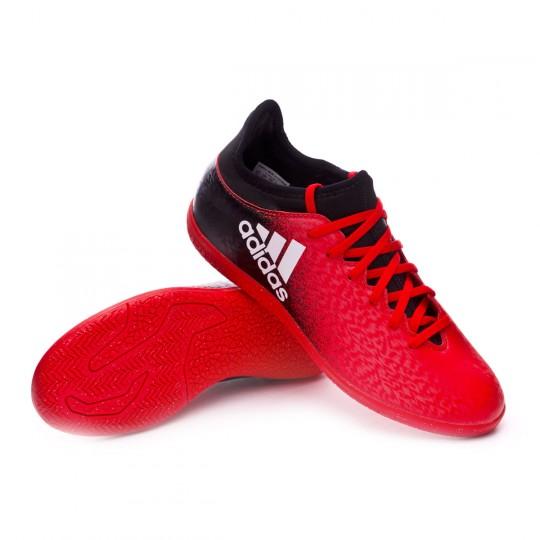 Zapatilla de fútbol sala  adidas jr X 16.3 IN Red-Black