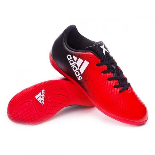 Zapatilla de fútbol sala  adidas jr X 16.4 IN Red-Black