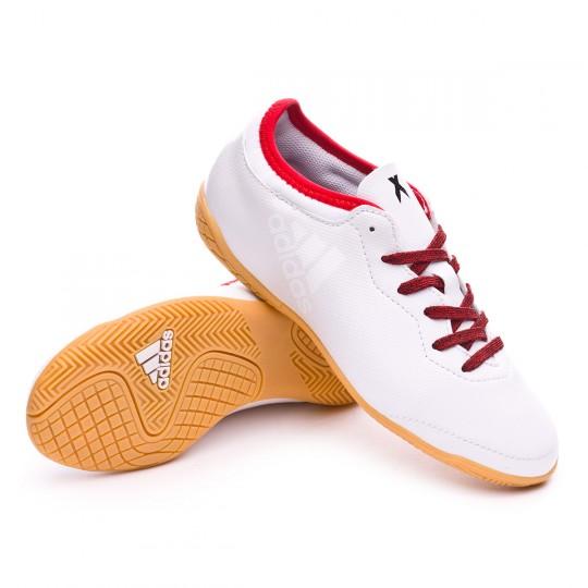 Zapatilla  adidas X Tango 16.3 IN Niño White-Red