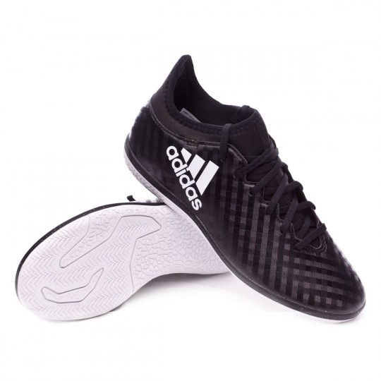 Zapatilla de fútbol sala  adidas jr X 16.3 IN Core black-White-Core black