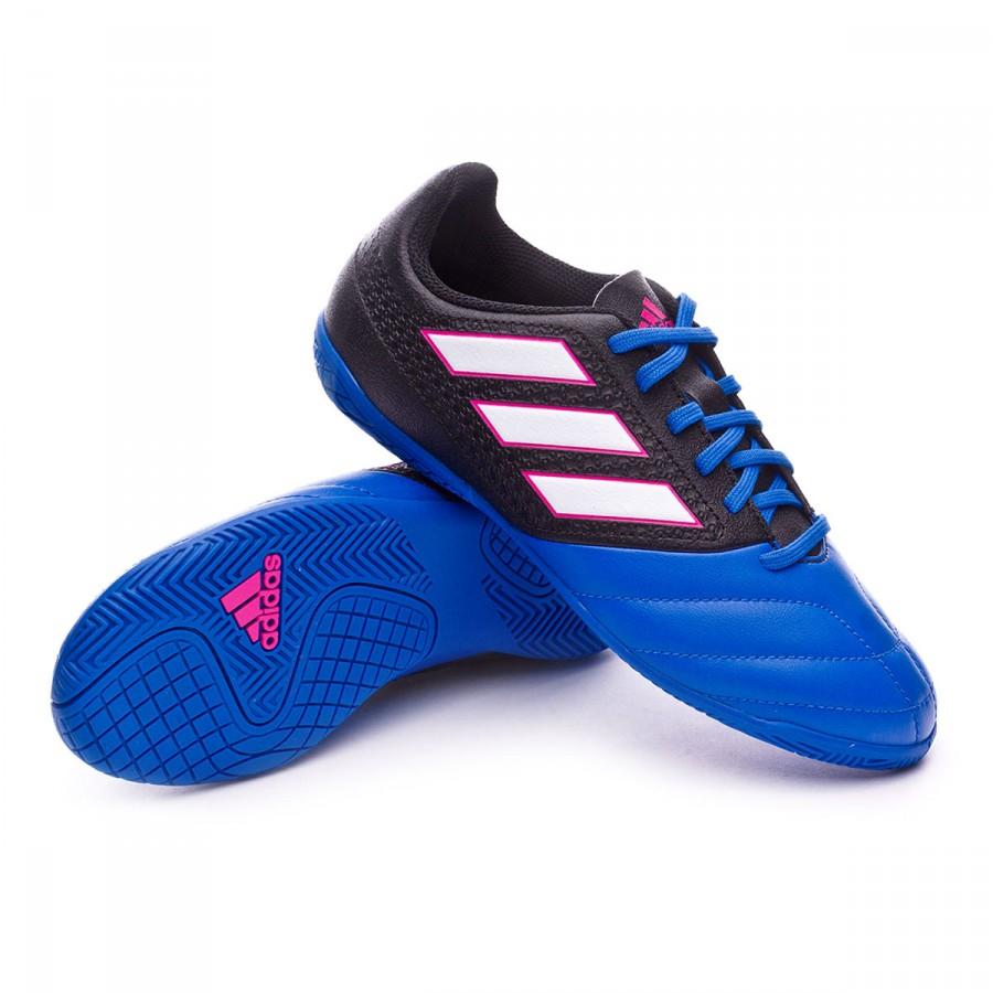 Zapatilla adidas Ace 17.4 IN Niño Core black-White-Blue - Soloporteros es  ahora Fútbol Emotion aca8dc3b326a1