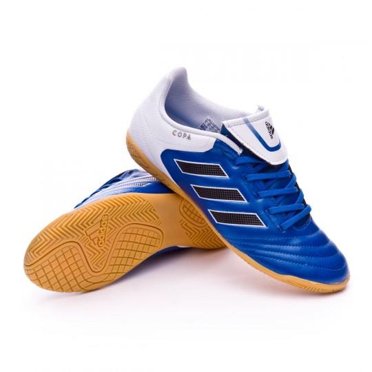 Zapatilla  adidas Copa 17.4 IN Niño Blue-White-Core black