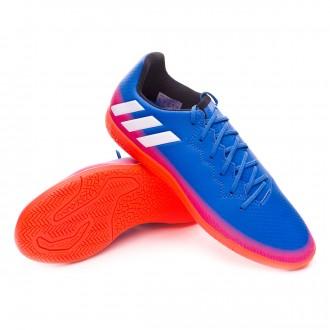 Sapatilha de Futsal  adidas Jr Messi 16.3 IN Blue-White-Solar orange