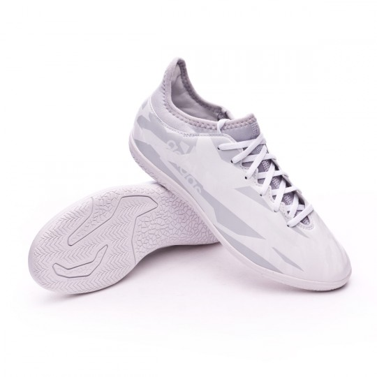 Chaussure de futsal  adidas enfant  X 16.3 IN Clear grey-White-Core black