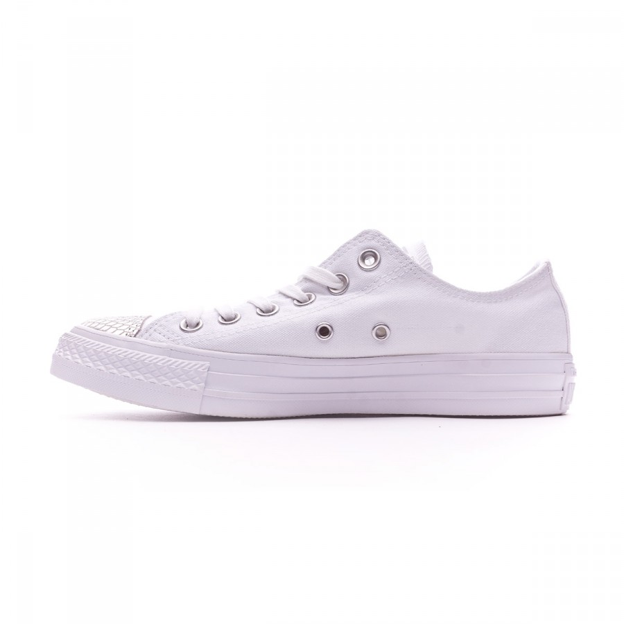 5f52bc621b61 Trainers Converse Chuck Taylor All Star Metallic Toecap OX Mujer White- Silver-White - Football store Fútbol Emotion